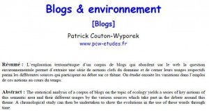 textmining,blogs,analyse,exploration,textométrie